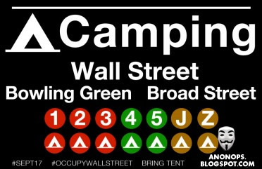 Camping grounds on Wall Street open Saturday, Sept. 17